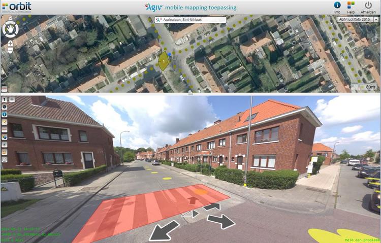 Viewer van de 360° beeldendatabank Vlaanderen