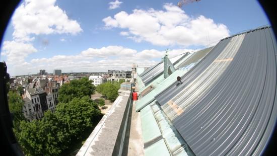 Laserscanning van de daken van een museum