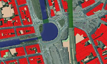 Combinatie van GRB met luchtfoto