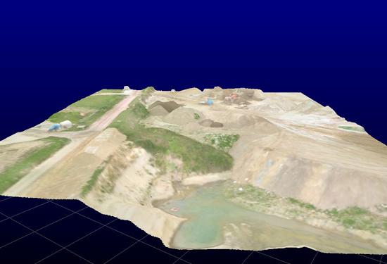 hoogtemodel gemaakt met een UAV