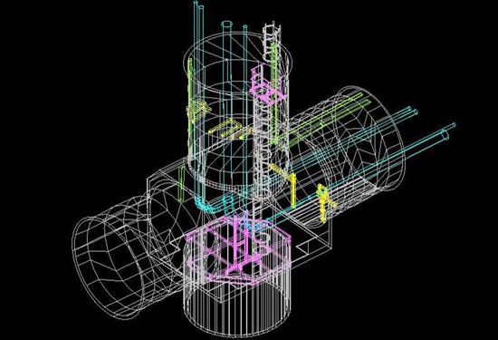 3D CAD tekening tunnel