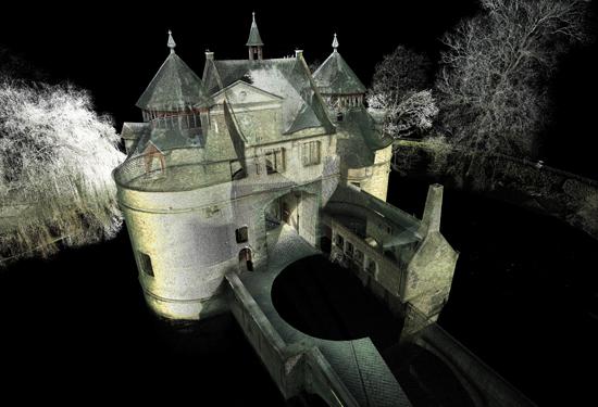 3D puntenwolk van de Ezelspoort te Brugge