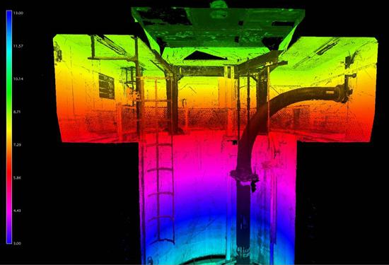 3D scan van een tunnel