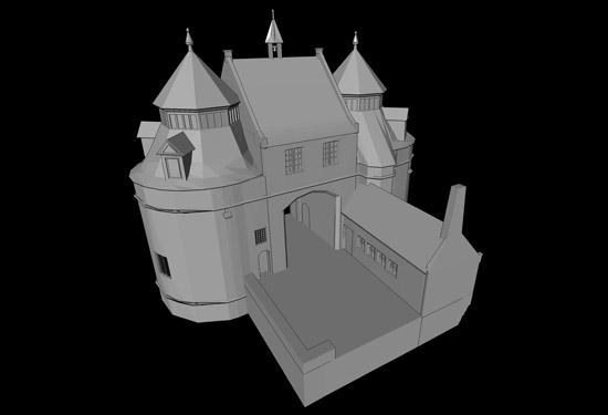3D model van de Ezelspoort te Brugge