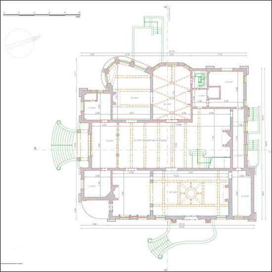 Grondplan gebouw Elisabethlei