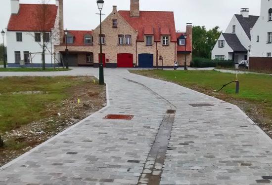as-built meting van nieuwe wegenis