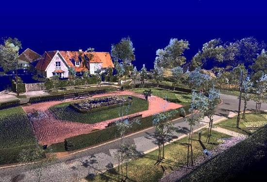 Mobile mapping 3D puntenwolk