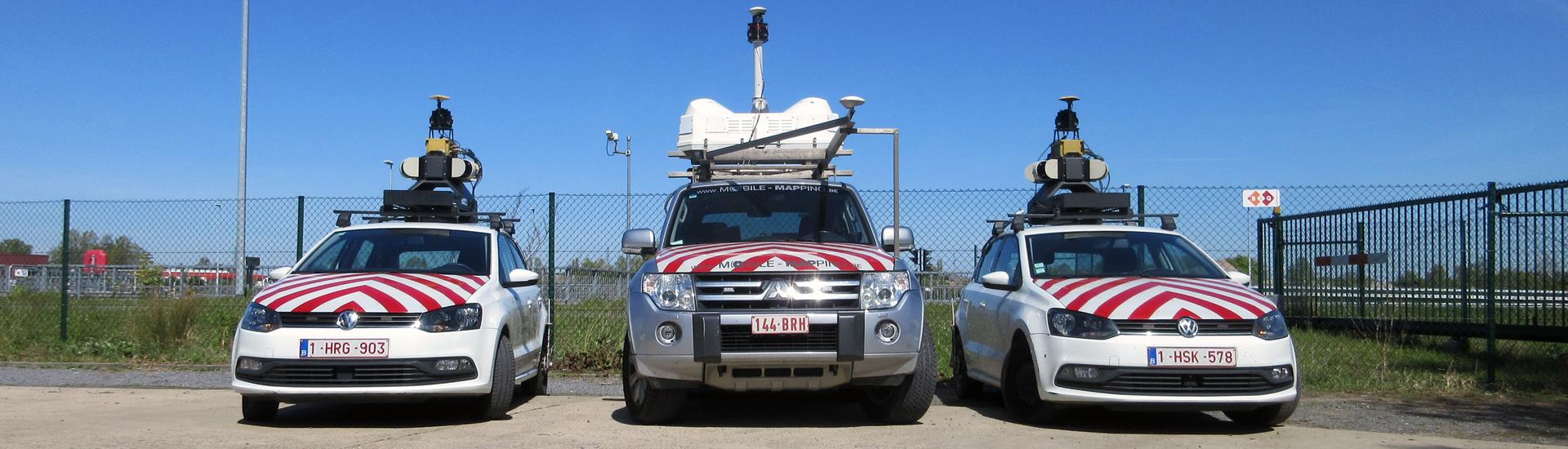 De 3 mobile mappers van Teccon