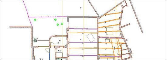 grondplan van een gebouw te Gent