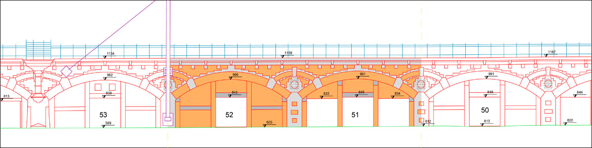 teccon 3D laserscanning plan aanzicht centers
