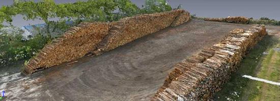 teccon  3D model voor opmeting houtvoorraad met drone