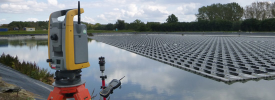 Opmeting zonnepanelen met totaalstation