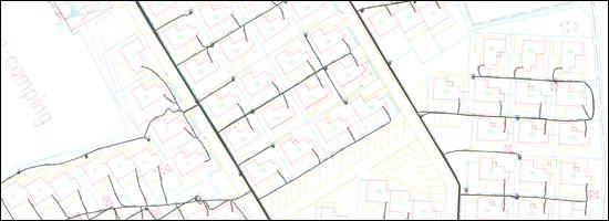 Plan ligging ondergrondse elektriciteitskabels