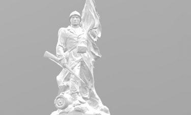 3D-modellering van een standbeeld