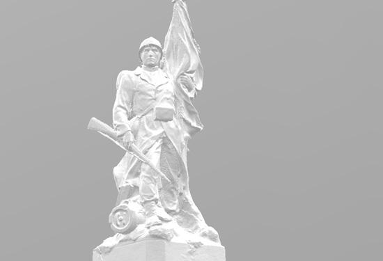 3D model van een standbeeld