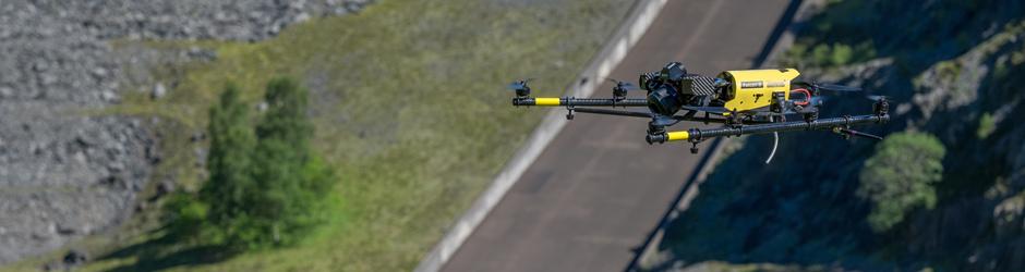 Falcon 8 drone voor luchtfotografie en terreinmodellering