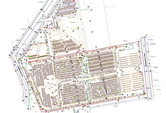 Plan van een begraafplaats