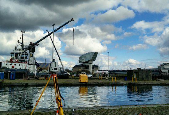 3D Laserscanning in de Haven van Antwerpen.