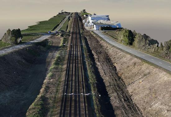 3D model spoorweg Aalter-Beernem