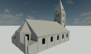 3D Model Kerk Overslag
