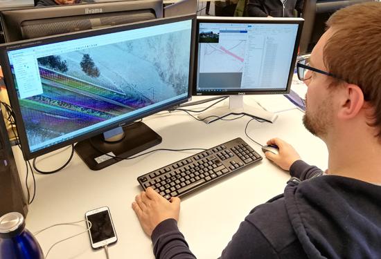 Verwerking mobile mapping data op kantoor