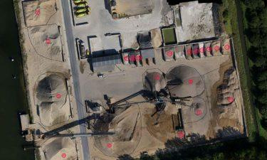 Volumemeting van granulaten met een drone