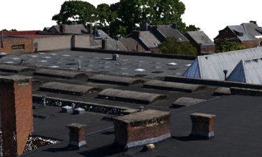 3D meting van een gebouwencomplex voor een hotel