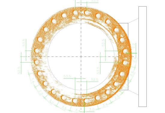 analyse van vervorming van een flens met 3D laserscanning